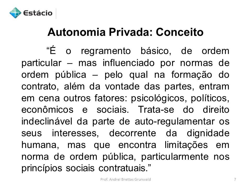 Autonomia Privada: Conceito