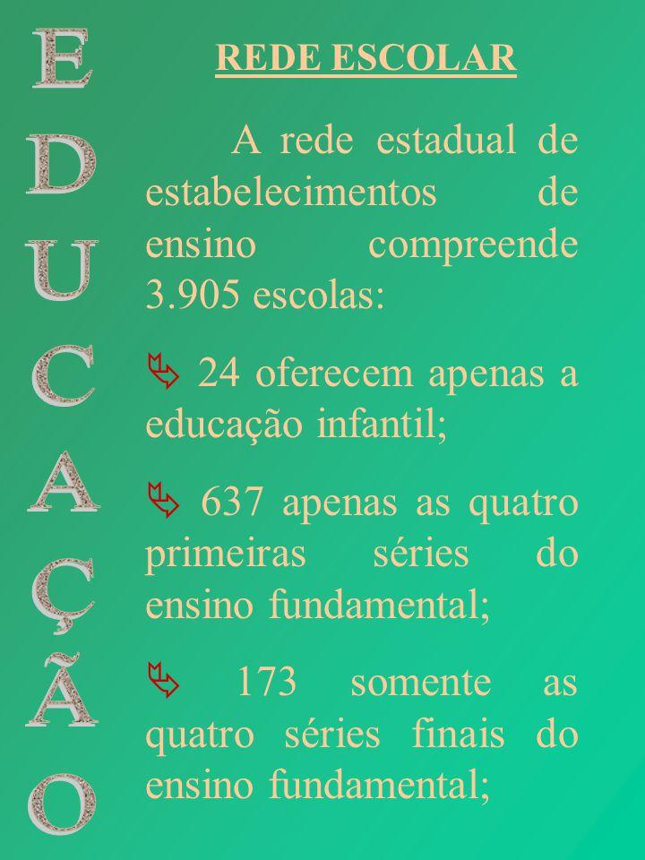  24 oferecem apenas a educação infantil;