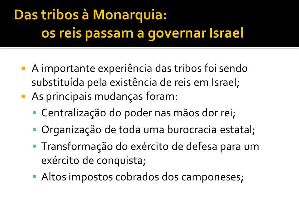 Das tribos à Monarquia: os reis passam a governar Israel