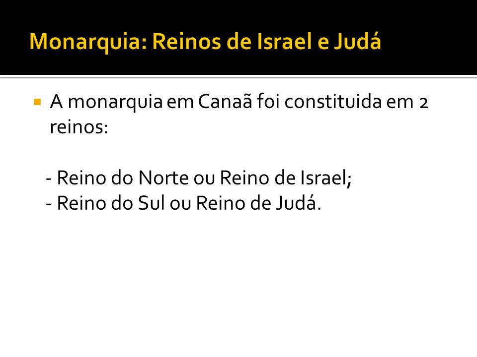 Monarquia: Reinos de Israel e Judá