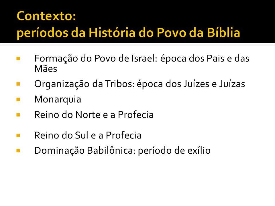 Contexto: períodos da História do Povo da Bíblia
