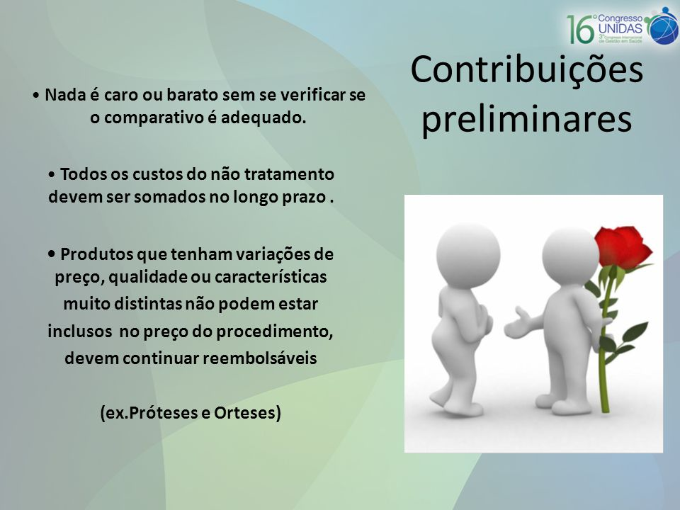 Contribuições preliminares