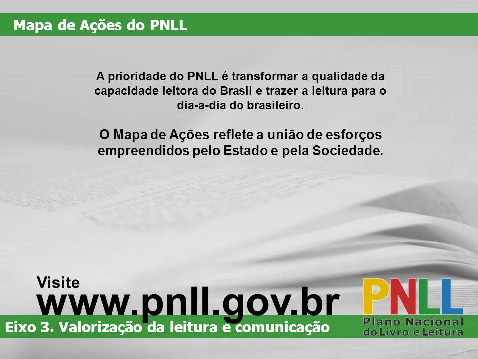www.pnll.gov.br Visite Mapa de Ações do PNLL
