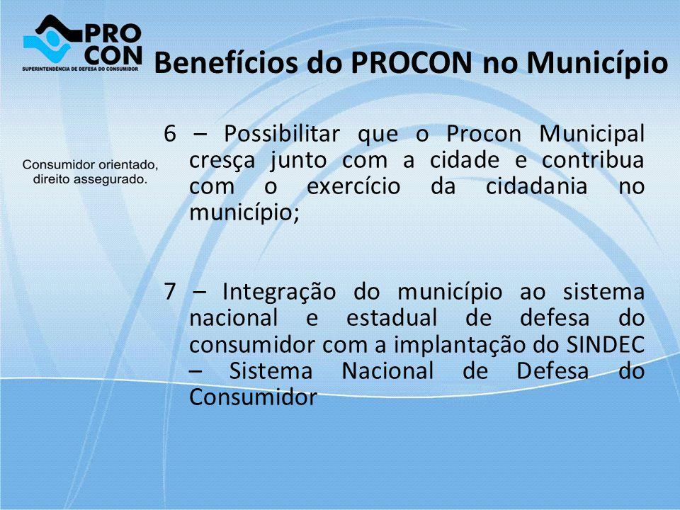 Benefícios do PROCON no Município
