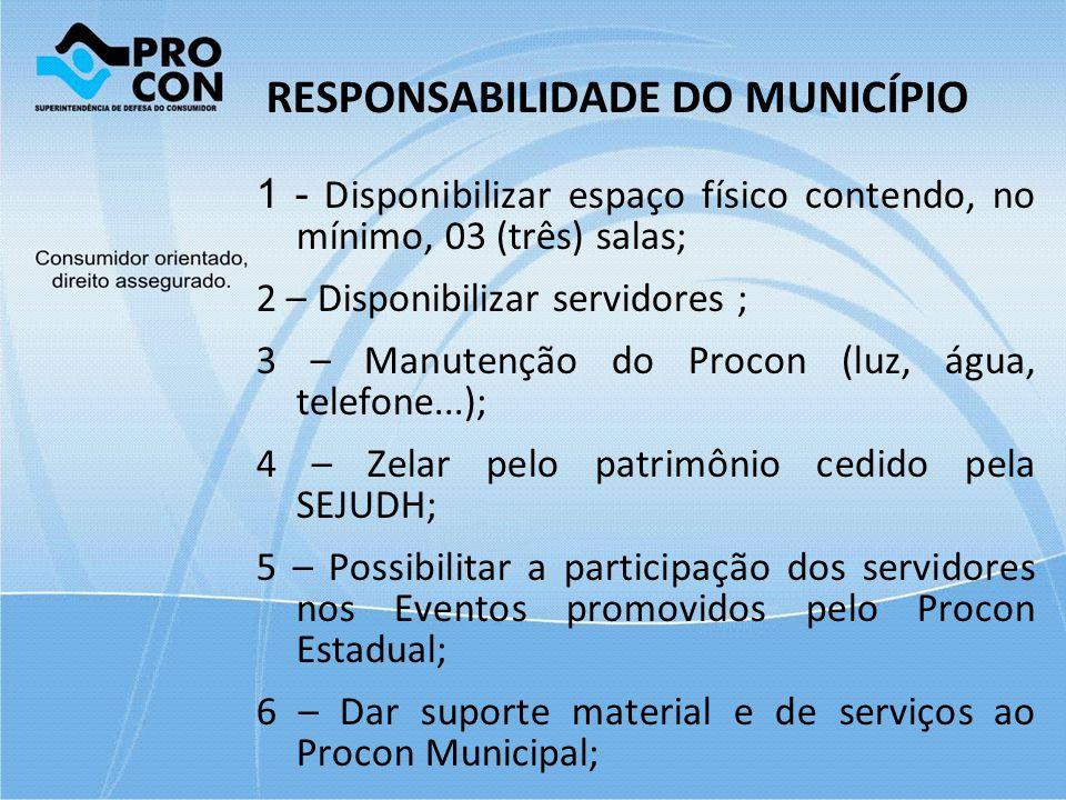 RESPONSABILIDADE DO MUNICÍPIO