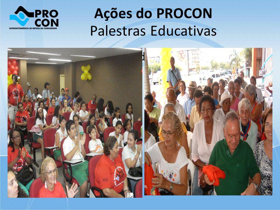 Ações do PROCON Palestras Educativas