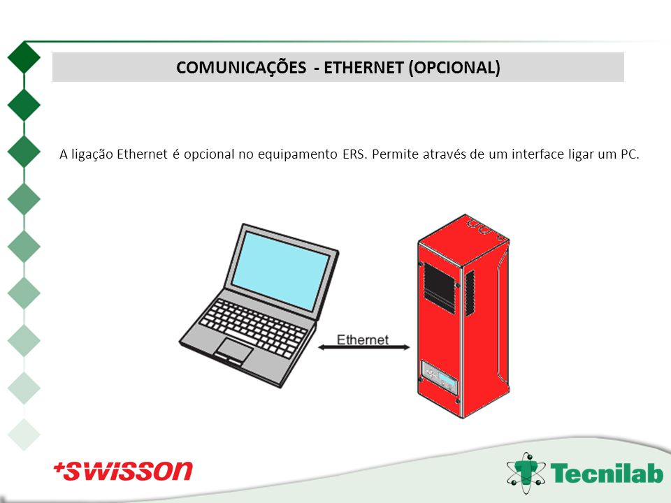 COMUNICAÇÕES - ETHERNET (OPCIONAL)