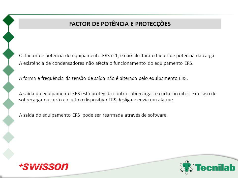 FACTOR DE POTÊNCIA E PROTECÇÕES