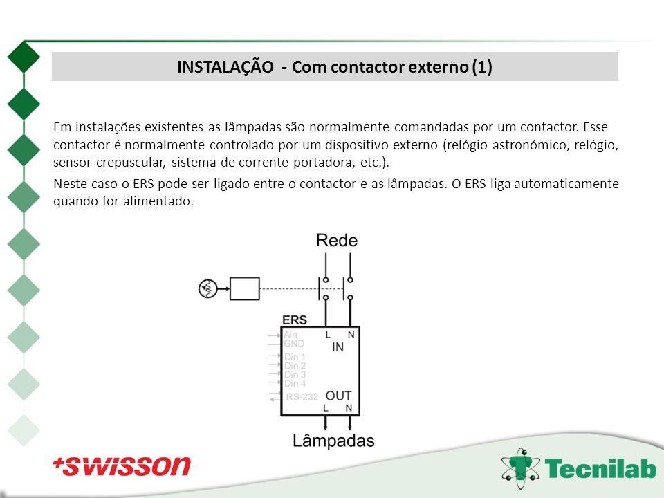 INSTALAÇÃO - Com contactor externo (1)