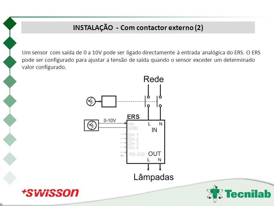 INSTALAÇÃO - Com contactor externo (2)
