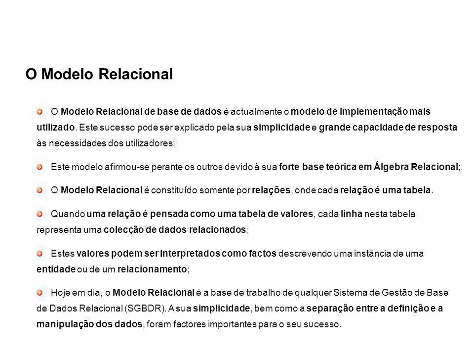 O Modelo Relacional
