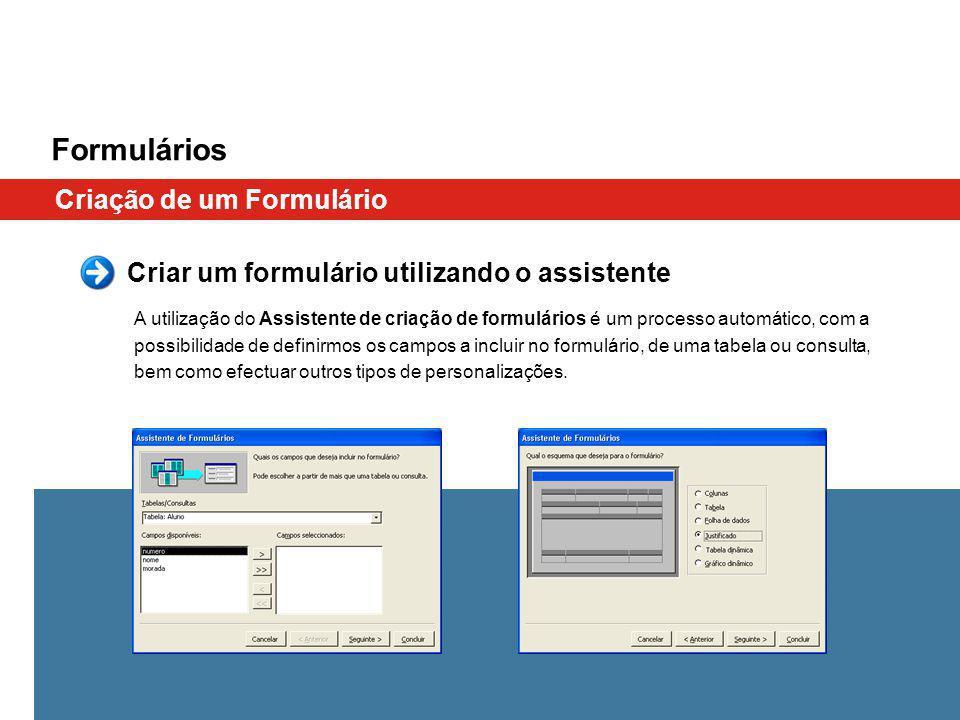 Formulários Criação de um Formulário