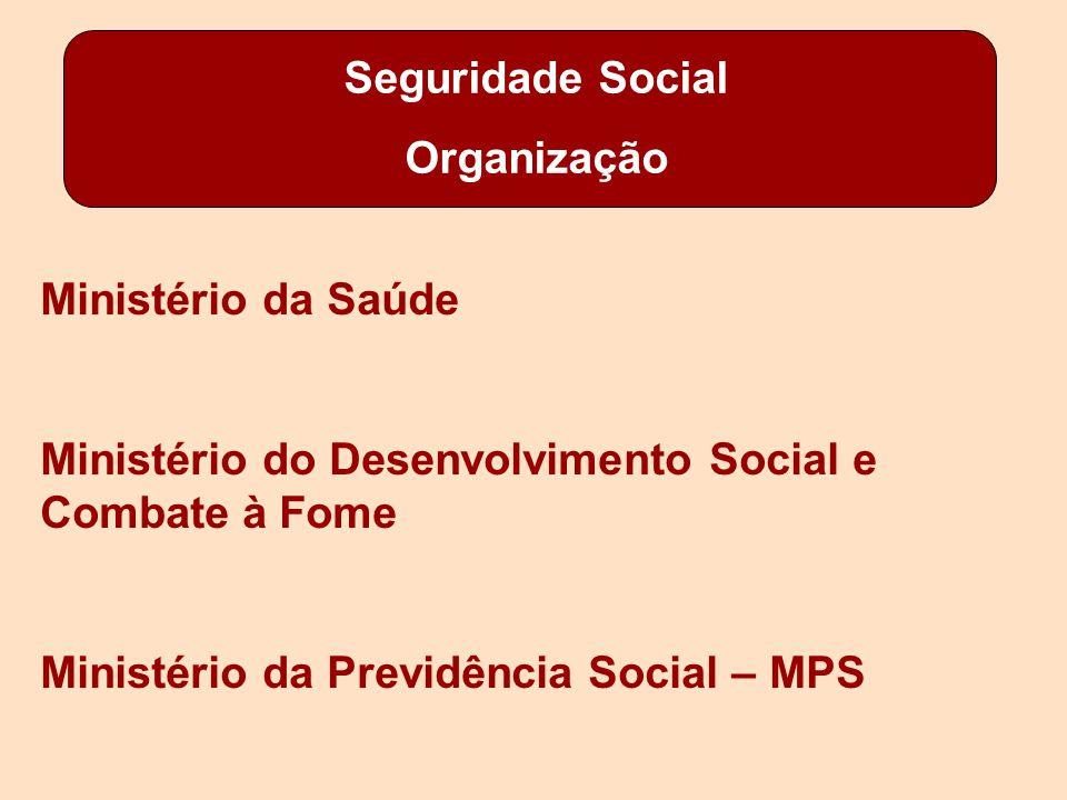 Seguridade Social Organização. Ministério da Saúde. Ministério do Desenvolvimento Social e Combate à Fome.