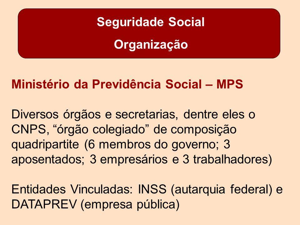 Seguridade Social Organização. Ministério da Previdência Social – MPS.