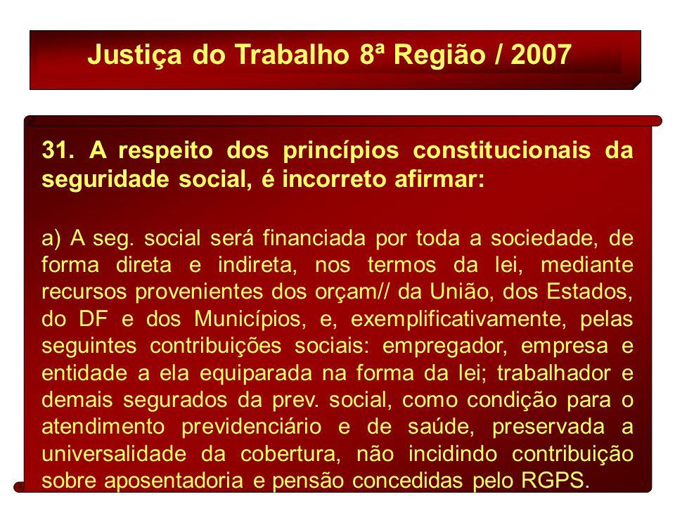 Justiça do Trabalho 8ª Região / 2007