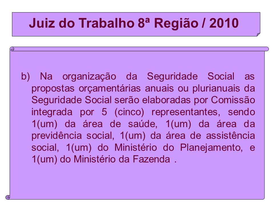 Juiz do Trabalho 8ª Região / 2010