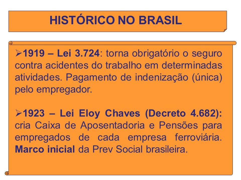 HISTÓRICO NO BRASIL
