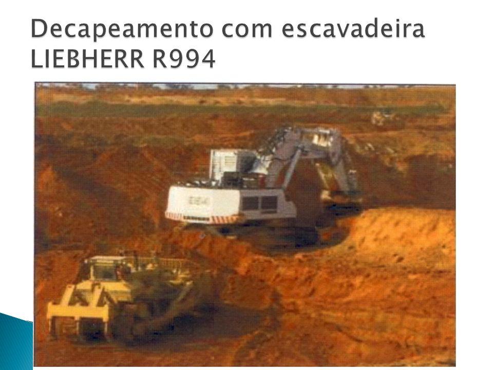 Decapeamento com escavadeira LIEBHERR R994