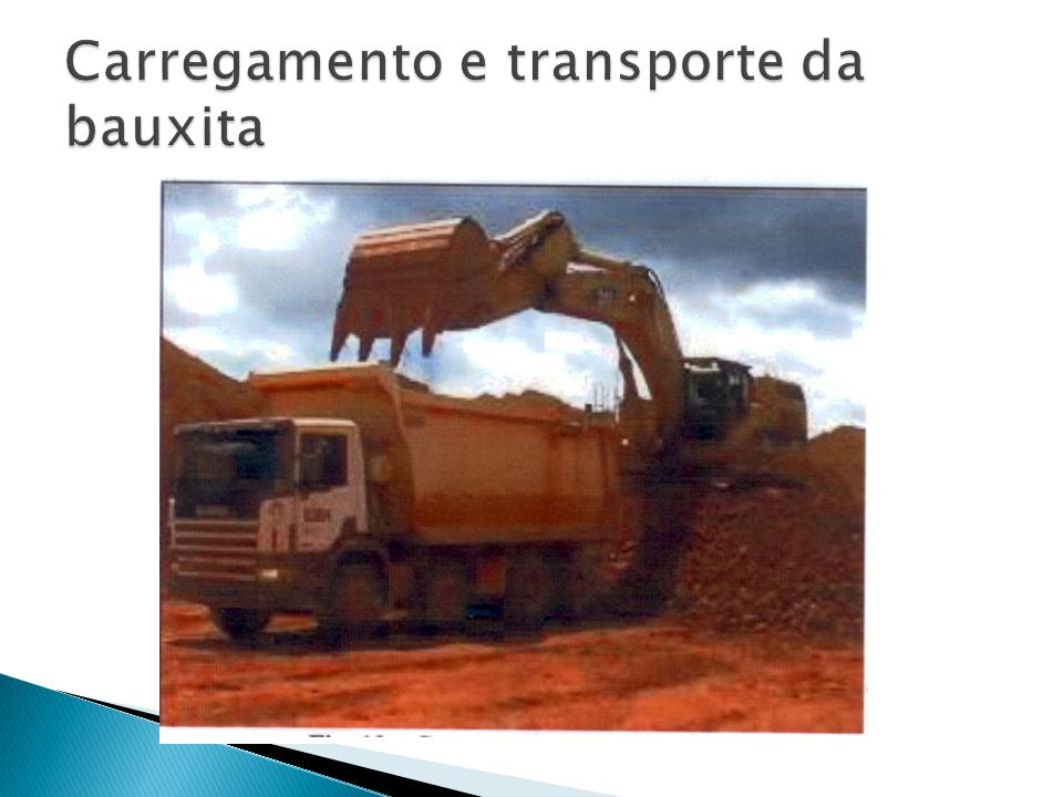 Carregamento e transporte da bauxita