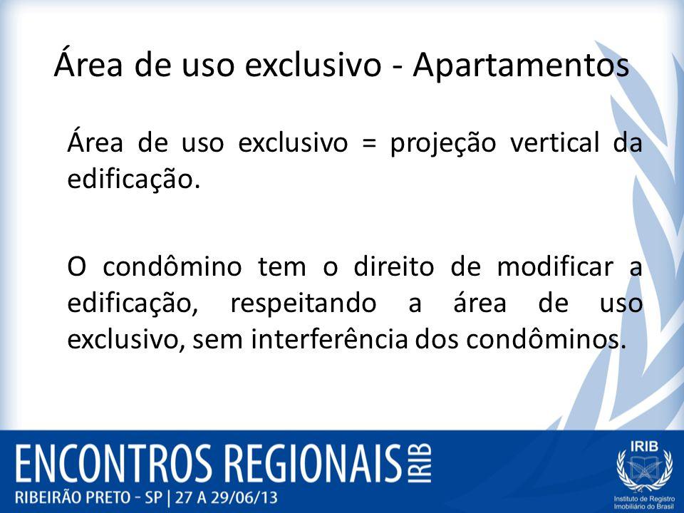 Área de uso exclusivo - Apartamentos
