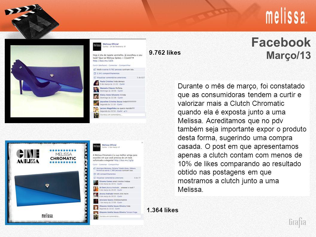 Facebook Março/13. 9.762 likes.