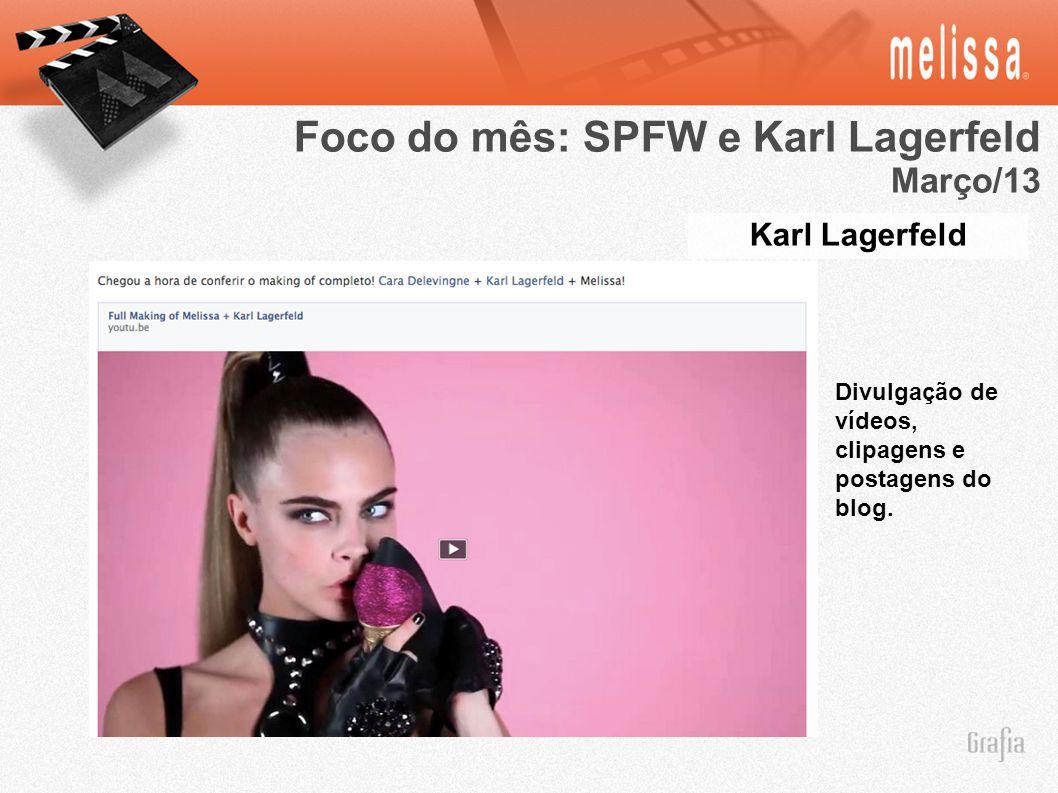 Foco do mês: SPFW e Karl Lagerfeld