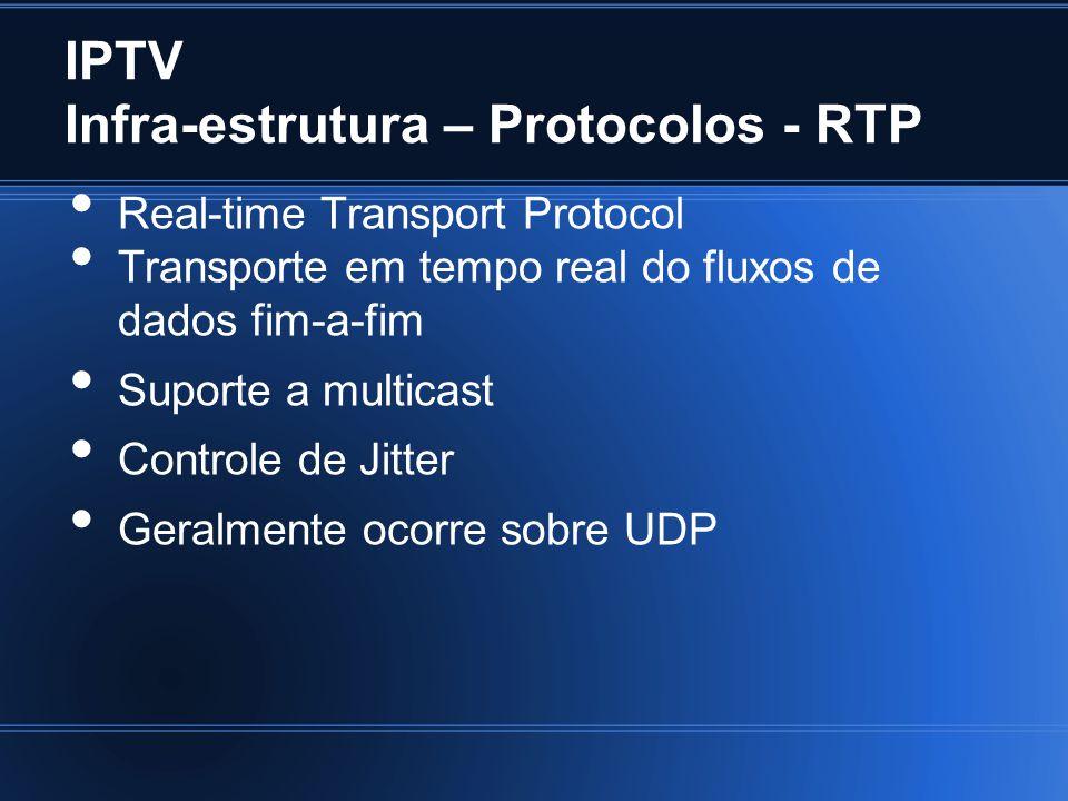 IPTV Infra-estrutura – Protocolos - RTP