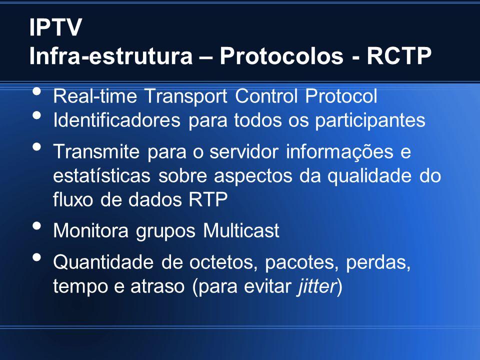 IPTV Infra-estrutura – Protocolos - RCTP