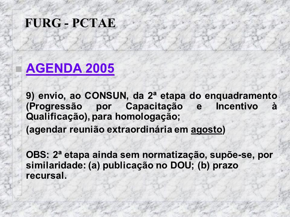 FURG - PCTAE AGENDA 2005.