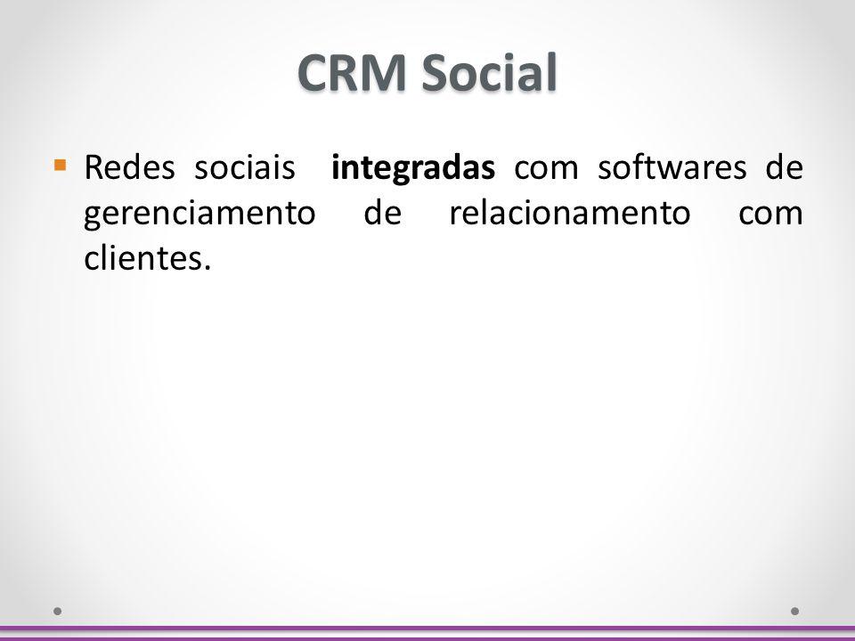 CRM Social Redes sociais integradas com softwares de gerenciamento de relacionamento com clientes.
