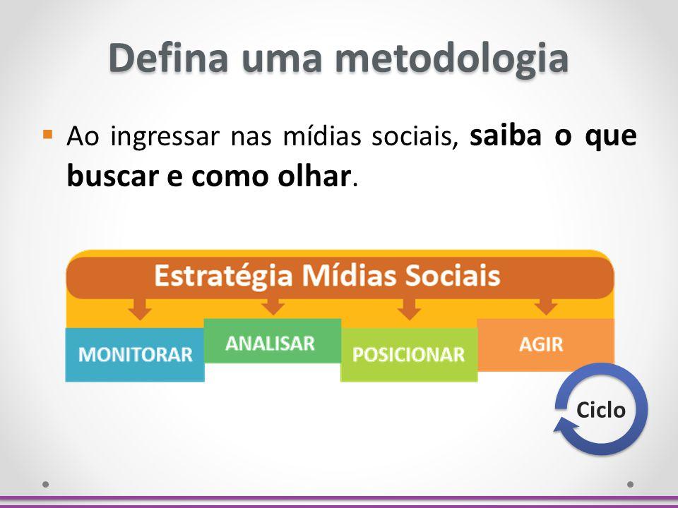 Defina uma metodologia