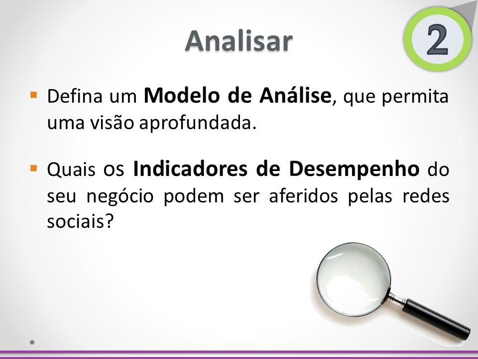 2 Analisar. Defina um Modelo de Análise, que permita uma visão aprofundada.