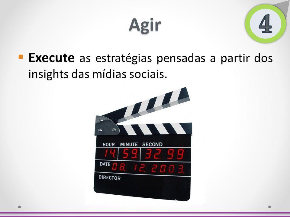 4 Agir. Execute as estratégias pensadas a partir dos insights das mídias sociais.