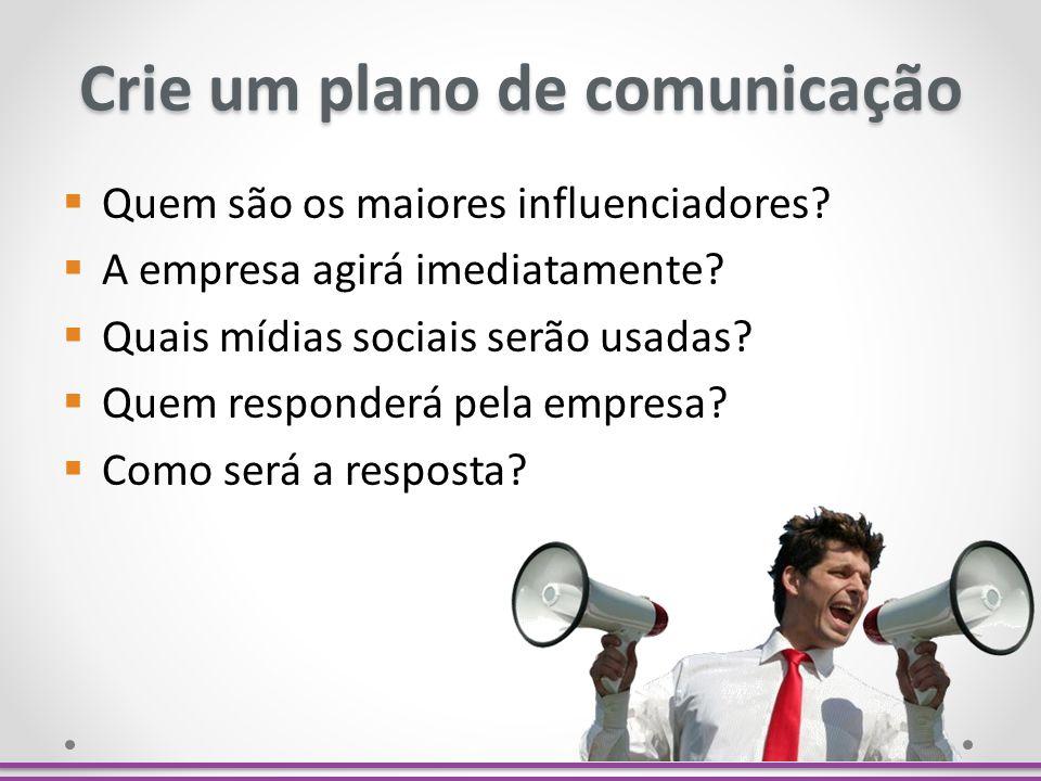 Crie um plano de comunicação