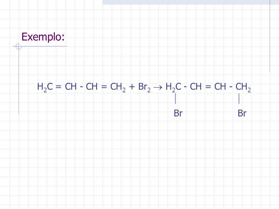 H2C = CH - CH = CH2 + Br2  H2C - CH = CH - CH2