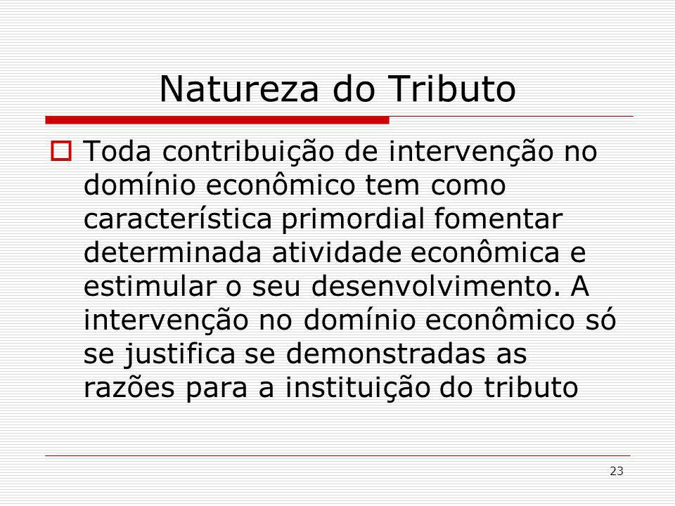 Natureza do Tributo