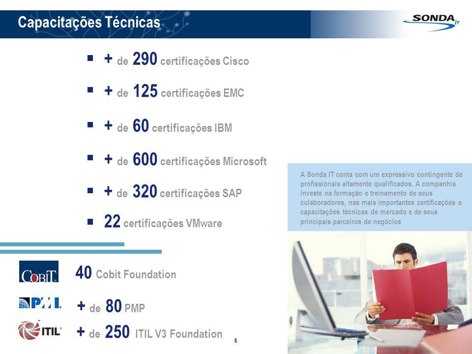 + de 290 certificações Cisco