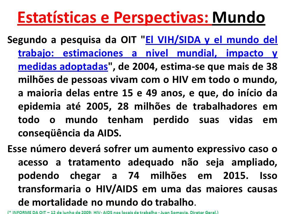 Estatísticas e Perspectivas: Mundo
