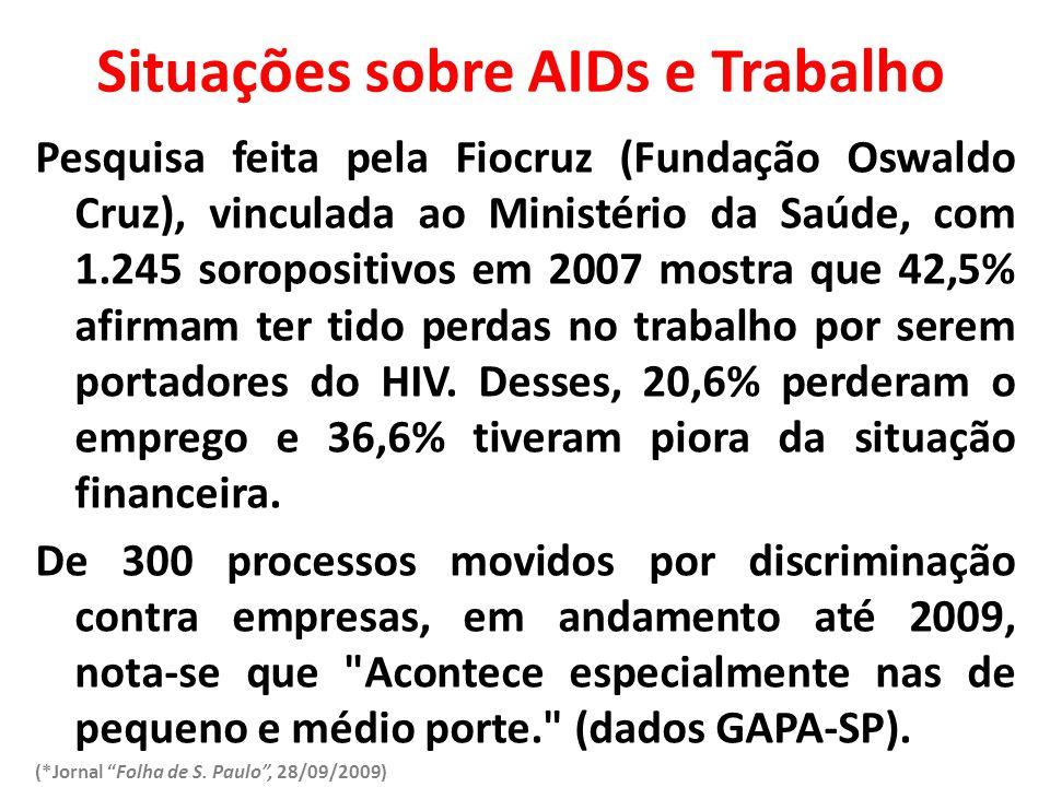 Situações sobre AIDs e Trabalho
