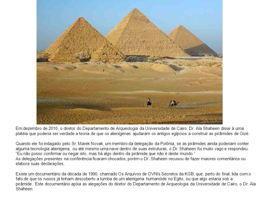 Em dezembro de 2010, o diretor do Departamento de Arqueologia da Universidade de Cairo, Dr.