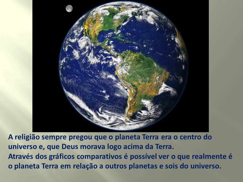 A religião sempre pregou que o planeta Terra era o centro do universo e, que Deus morava logo acima da Terra.