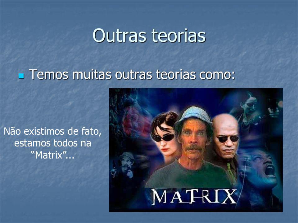 Não existimos de fato, estamos todos na Matrix ...