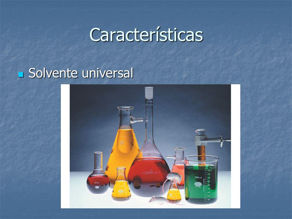 Características Solvente universal