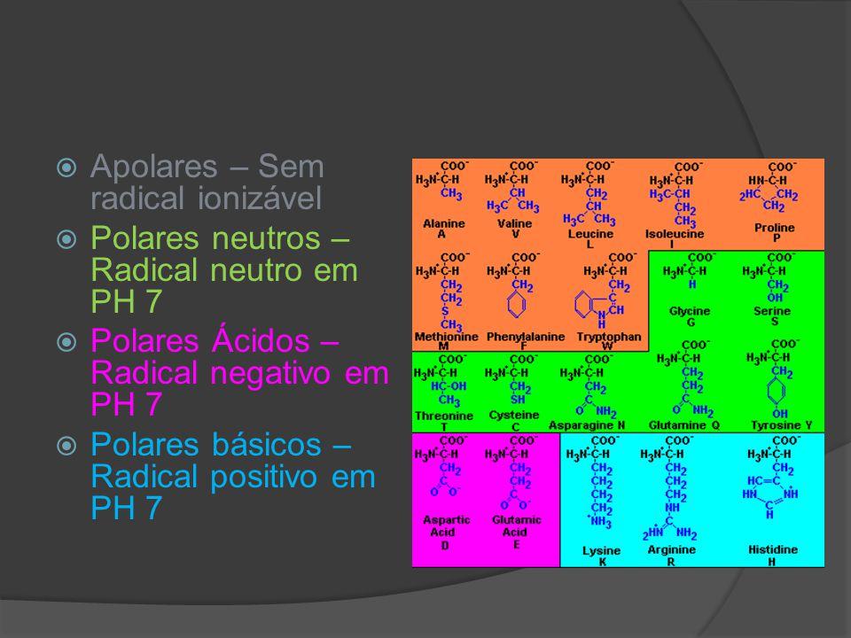 Apolares – Sem radical ionizável