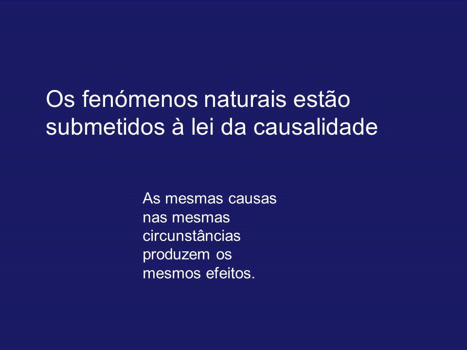 Os fenómenos naturais estão submetidos à lei da causalidade