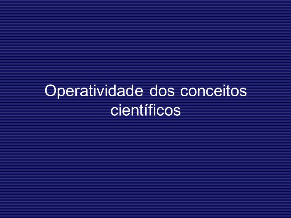 Operatividade dos conceitos científicos