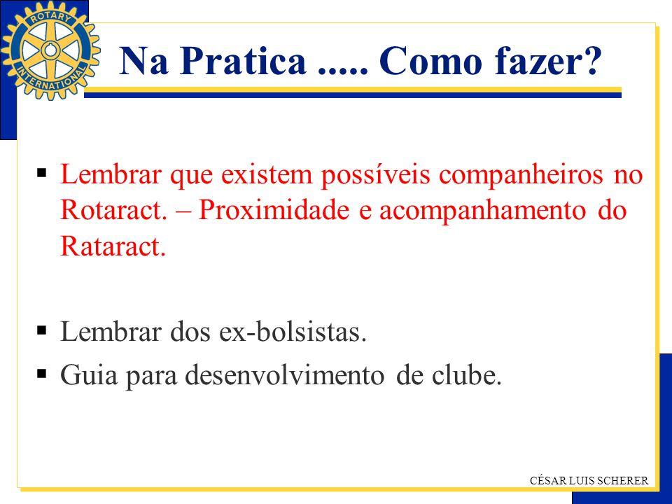 Na Pratica ..... Como fazer Lembrar que existem possíveis companheiros no Rotaract. – Proximidade e acompanhamento do Rataract.