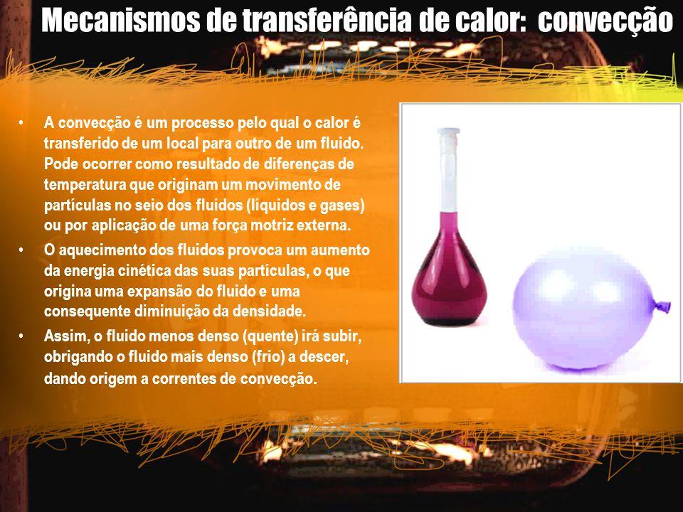Mecanismos de transferência de calor: convecção