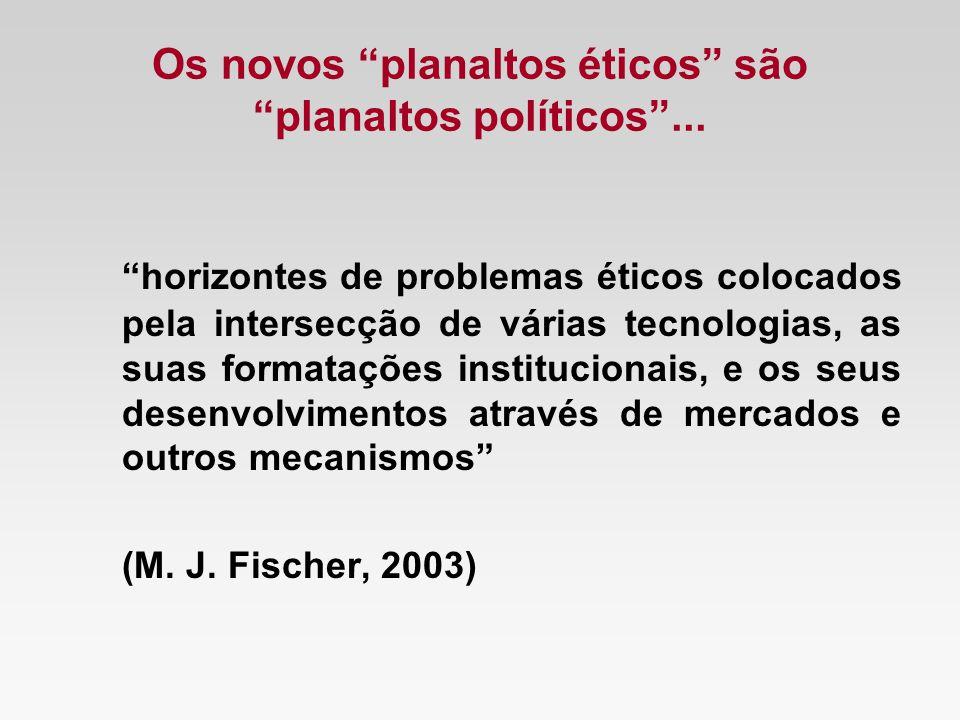 Os novos planaltos éticos são planaltos políticos ...