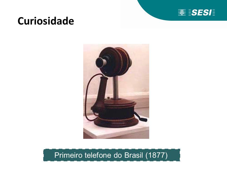 Curiosidade Idem anterior. Primeiro telefone do Brasil (1877)